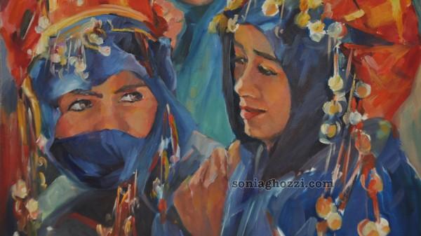 Artiste peintre tunisienne sonia ghozzi mezghanni for Biographie artiste peintre