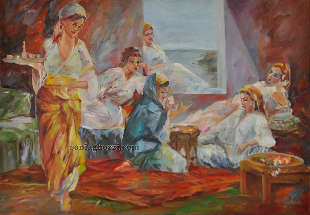 galerie artiste peintre tunisienne sonia ghozzi mezghanni. Black Bedroom Furniture Sets. Home Design Ideas