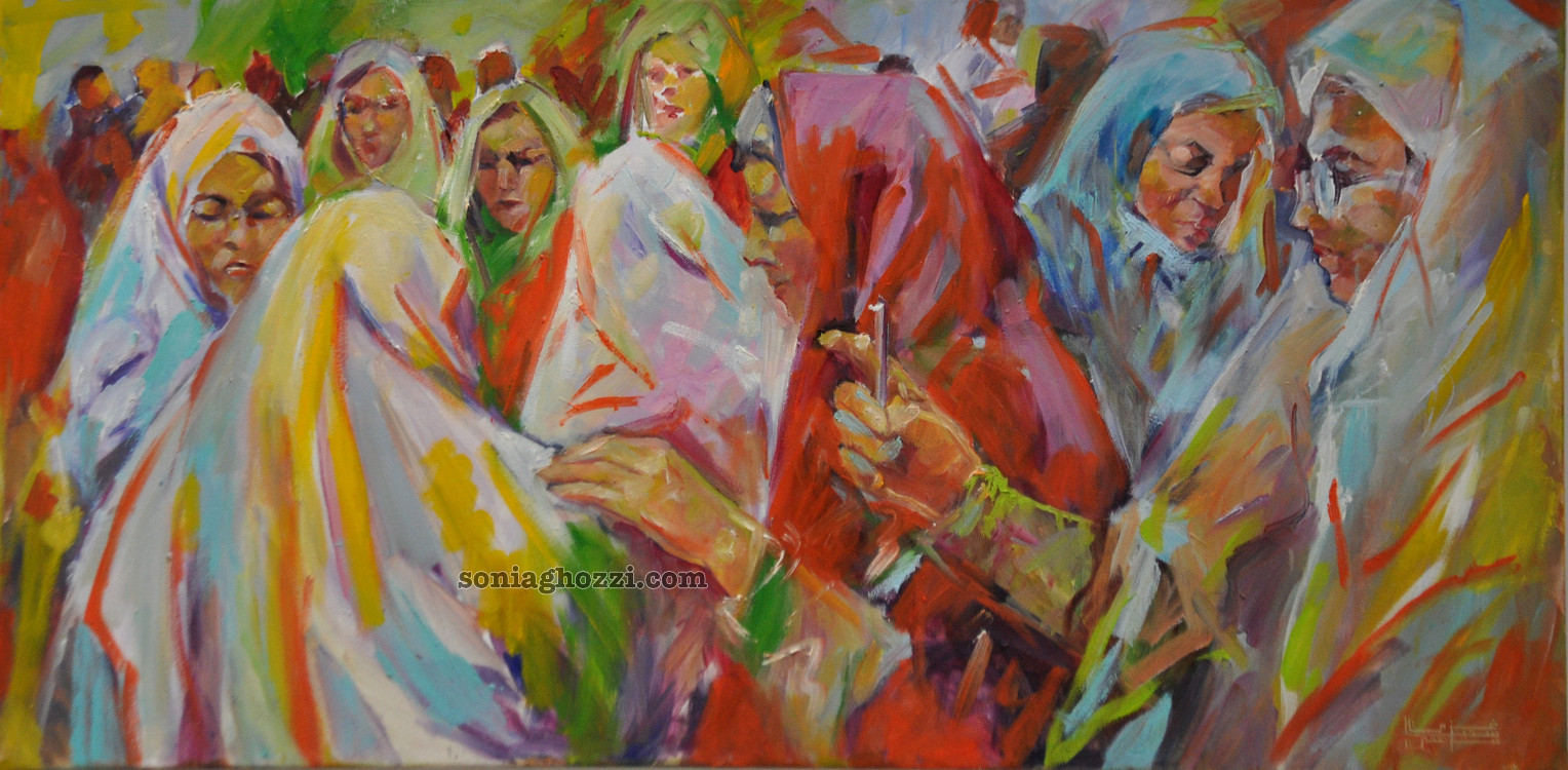 Peintre tunisien sonia ghozzi mezghanni00026 sonia for Biographie artiste peintre